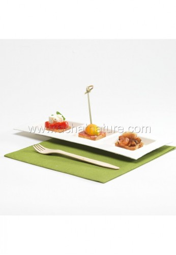 Assiette design DEDRA 3 compartiments 26x11x1,2cm